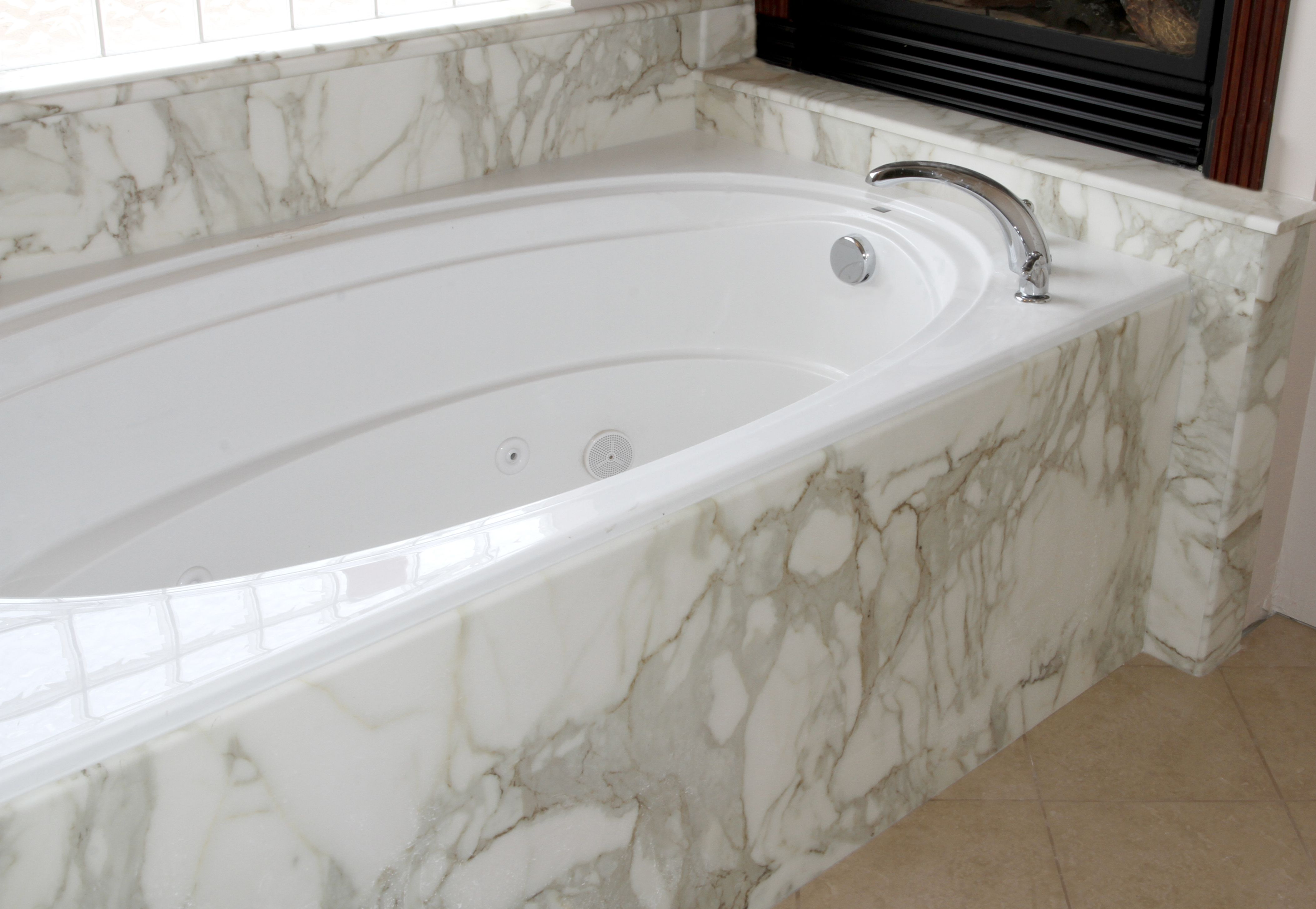 Pin By Marble Works Inc On Bath Tubs Marble Tub Cultured Marble Tub Surround