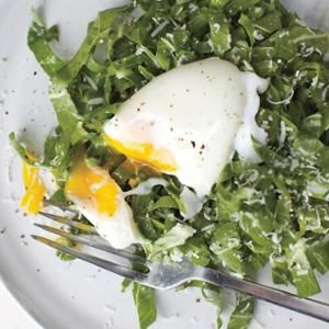 Swiss Chard With Poached Egg Salad from Whole Living, found @Edamam!