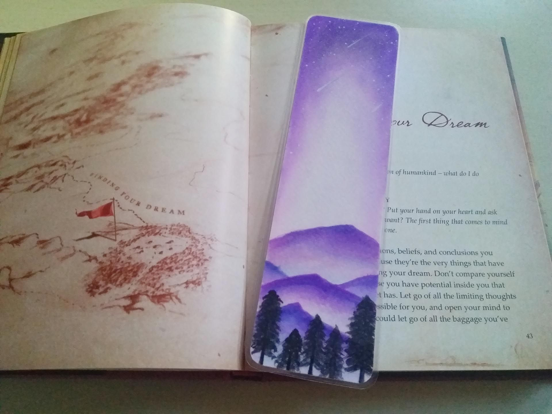 Handpainted Watercolor Bookmark On 300 Gsm Paper And Backed With