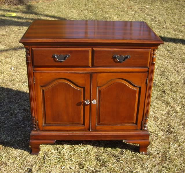 Lovely solid cherry antique cabinet