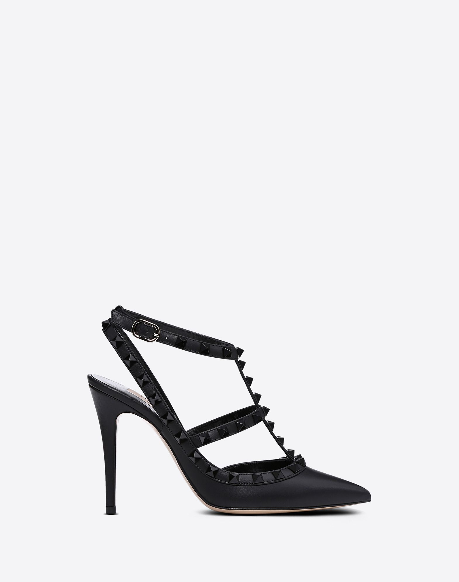 fd566e043fc93 Lacquer Stud Rockstud Caged Pump 100mm for Woman | Valentino Online Boutique
