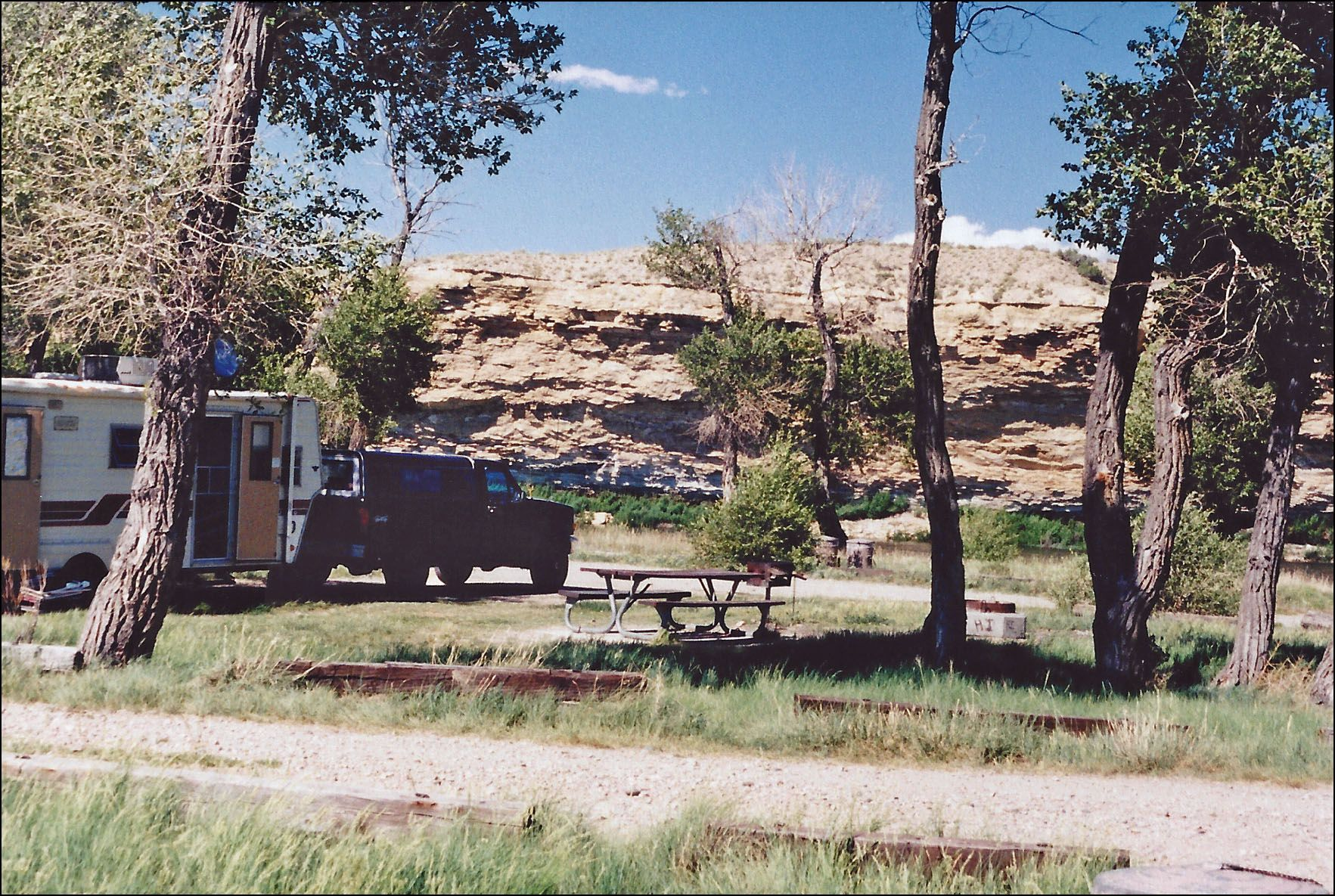 Weeping Rock Campground, 1998. Located below Fontenelle ...