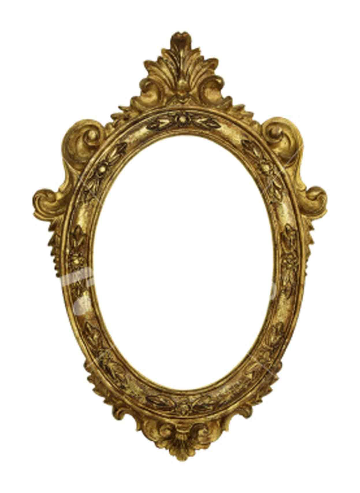 Old fashioned gold frame ornate gold frame old picture for Old style mirror