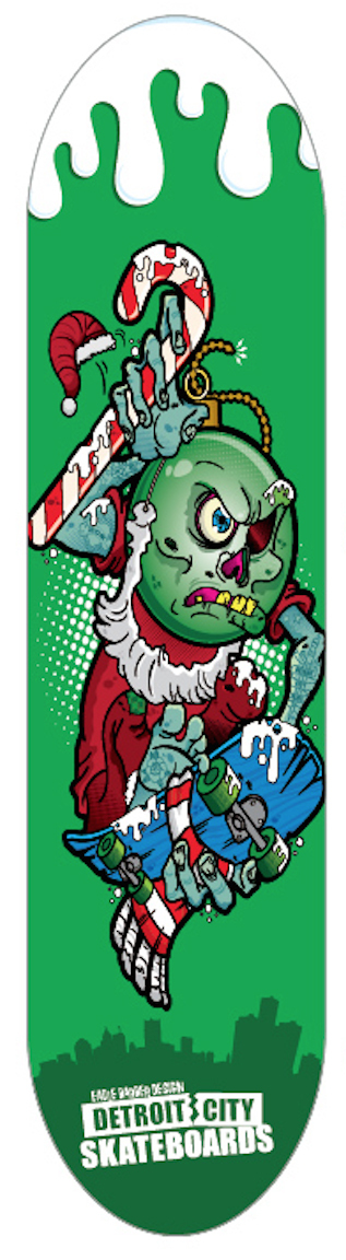 Dcs bad santa green deck 7 75 detroit city skateboards 34 99