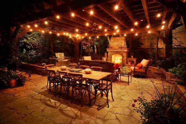 Idee D Eclairage Pour Votre Terrasse Outdoor Kitchen Patio Outdoor Patio Lights Patio Design