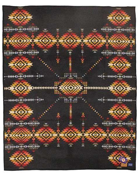 Pueblo Dwelling Heritage Blanket Unnapped Pendleton Blanket Heritage Blankets Pendleton