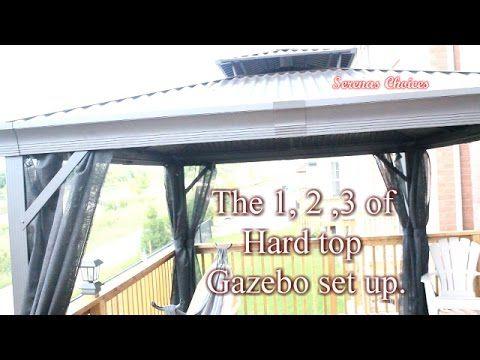 Patio Hard Top Conversion From Canvas Youtube Diy Gazebo Gazebo Roof Gazebo