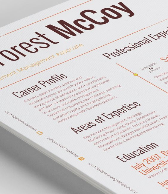 A bold design and a strong structure make the Lynx Resume a perfect - resume template