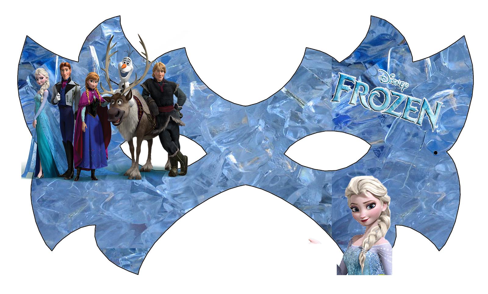 Máscara de Frozen para Imprimir Gratis. | Ideas y material gratis para fiestas y celebraciones Oh My Fiesta!