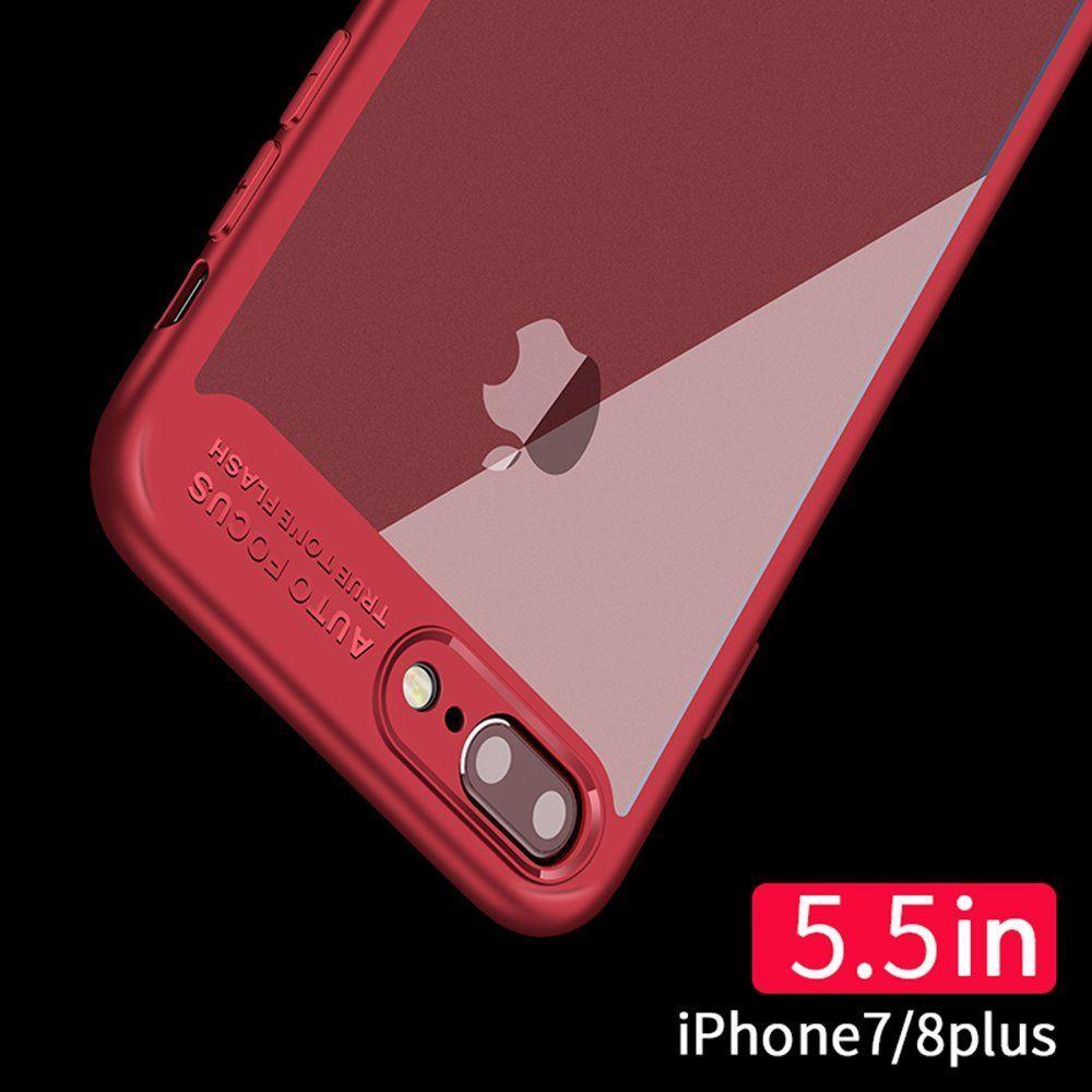 timeless design 162e0 5b7c0 iPhone 7 Plus Case / iPhone 8 Plus Case Slim Transparent Clear Cover ...