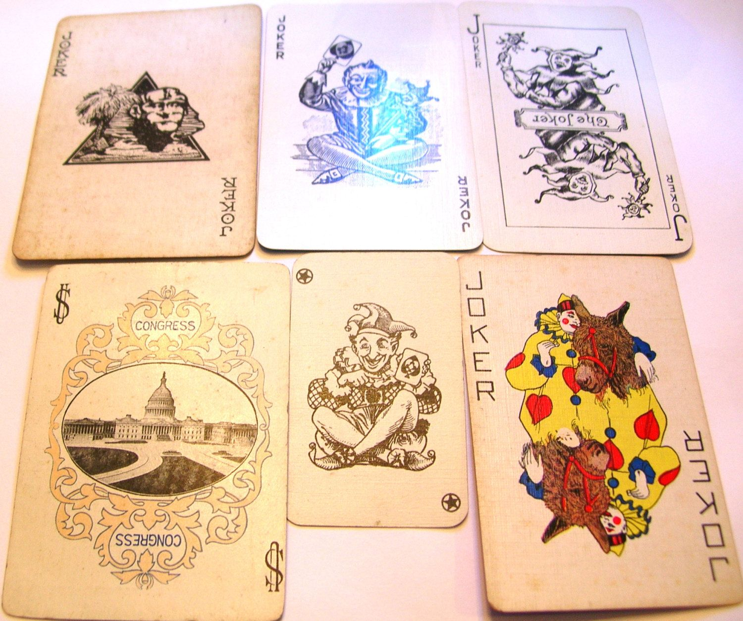 Rare Joker Collection Vintage Playing Etsy Vintage Playing Cards Vintage Collection Paper Crafts