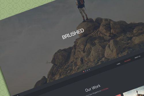 brushed template free one page html css templates pinterest