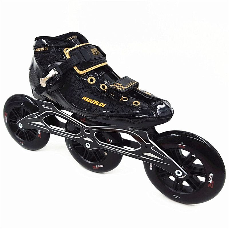 Professional Carbon Patins Power Skate 3x125mm Wheel Inline Speed