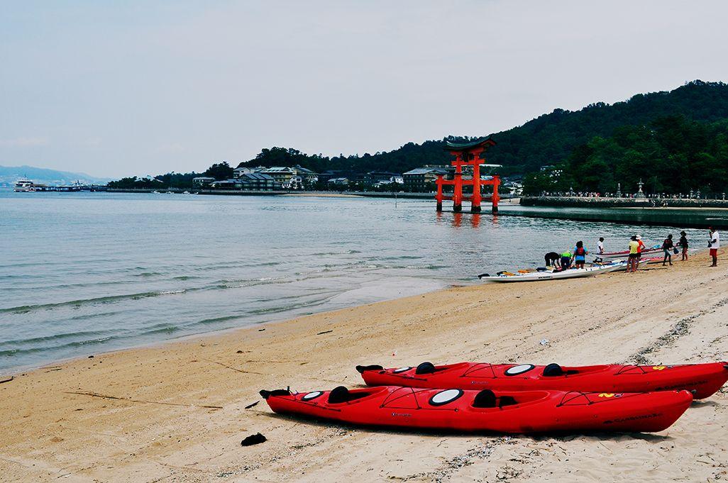 Pequeña playa en Miyajima.