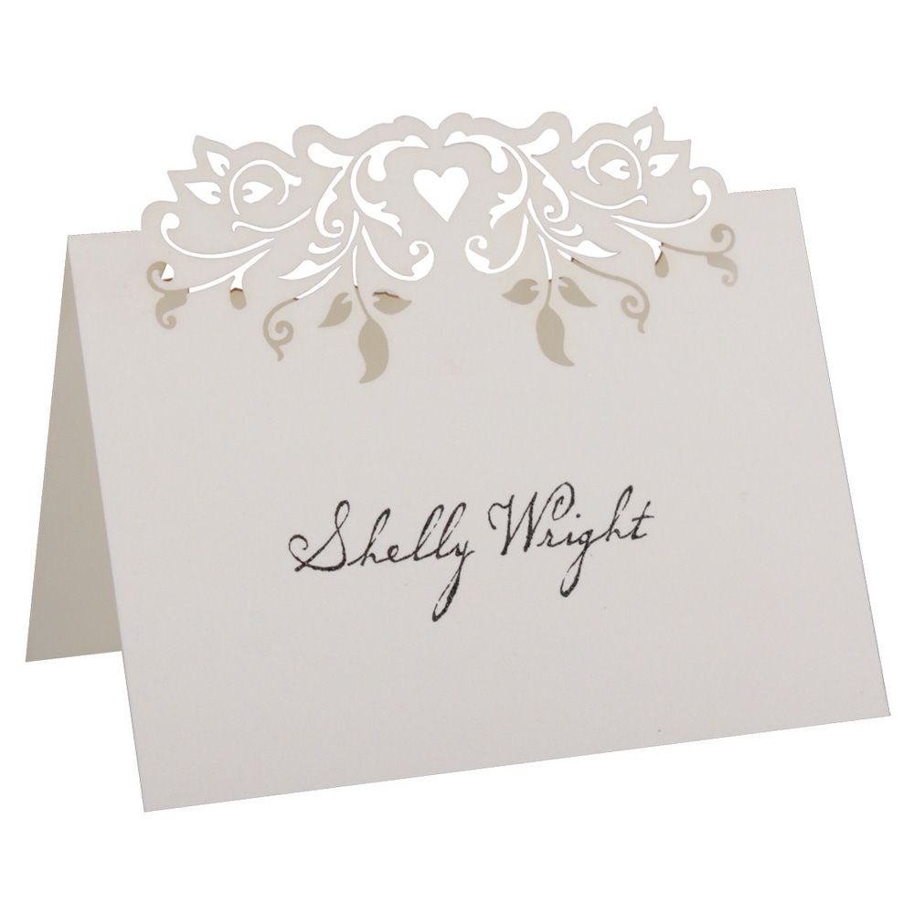 Love Vines Place Card Ivory Pk Of 10 With Images Wedding Name