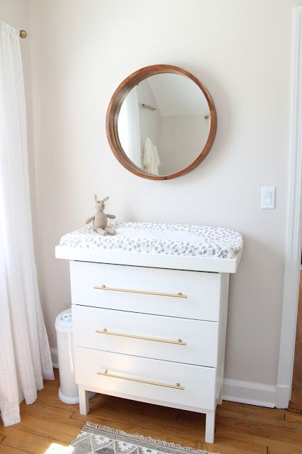 Ikea Tarva Dresser Hack Into Changing Table Furniture Pinterest Nursery Modern And