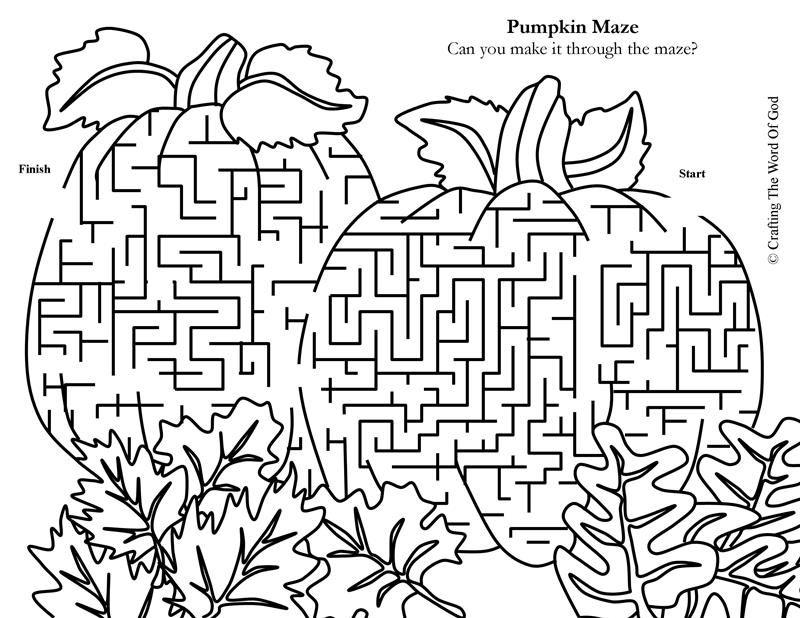 Pumpkin Maze (Activity Sheet) Activity sheets are a great