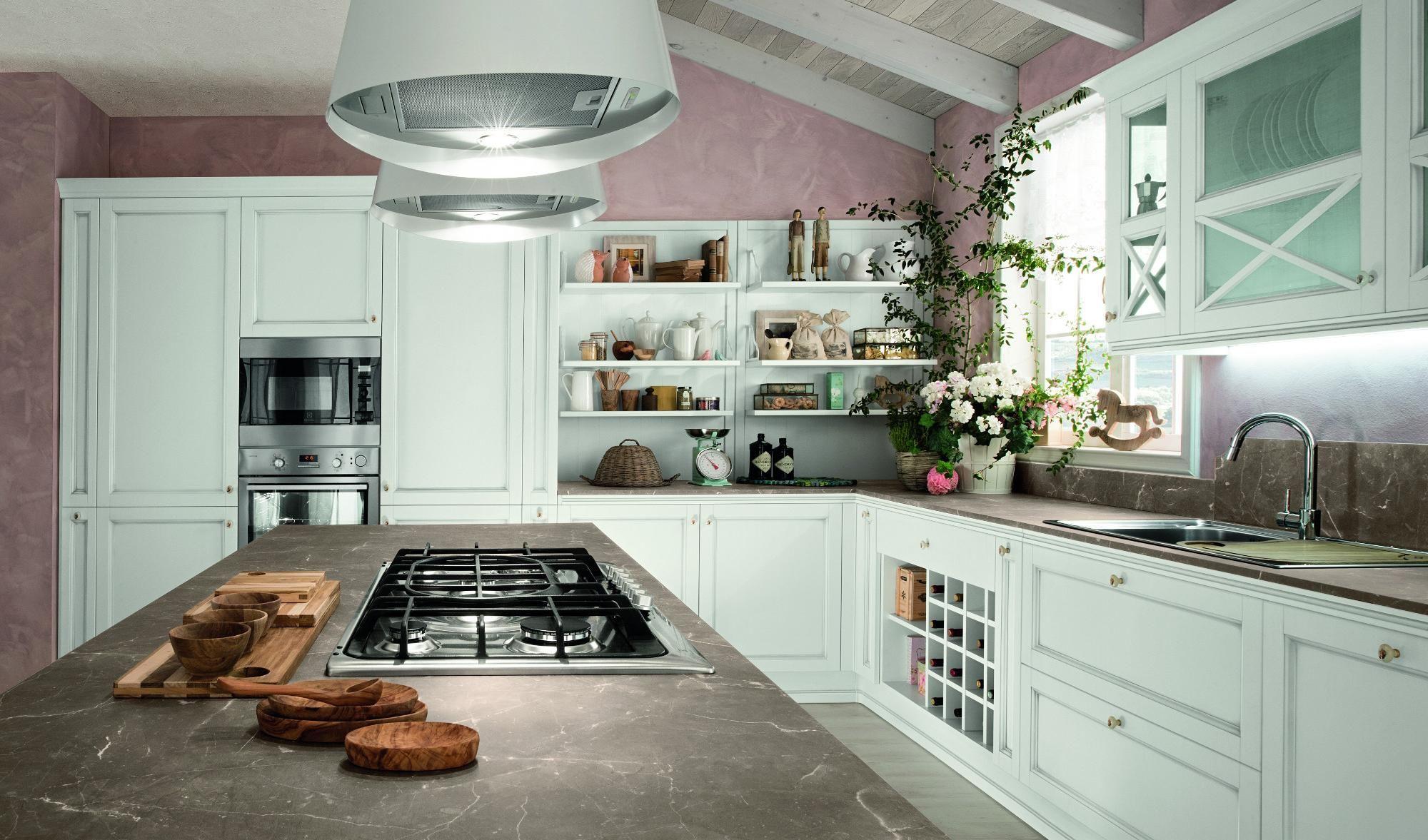 cucine artec Sinfonia bianco anticato Isola nel 2020 ...