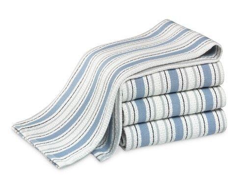 Williams Sonoma Contrast Stripe Dishcloths Set Of 4