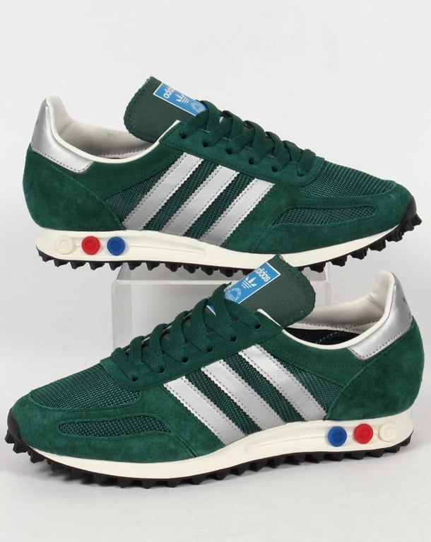 timeless design 2cbdc 26d3d Adidas LA Trainer OG Trainers Green Silver,shoes,original,runner,mens
