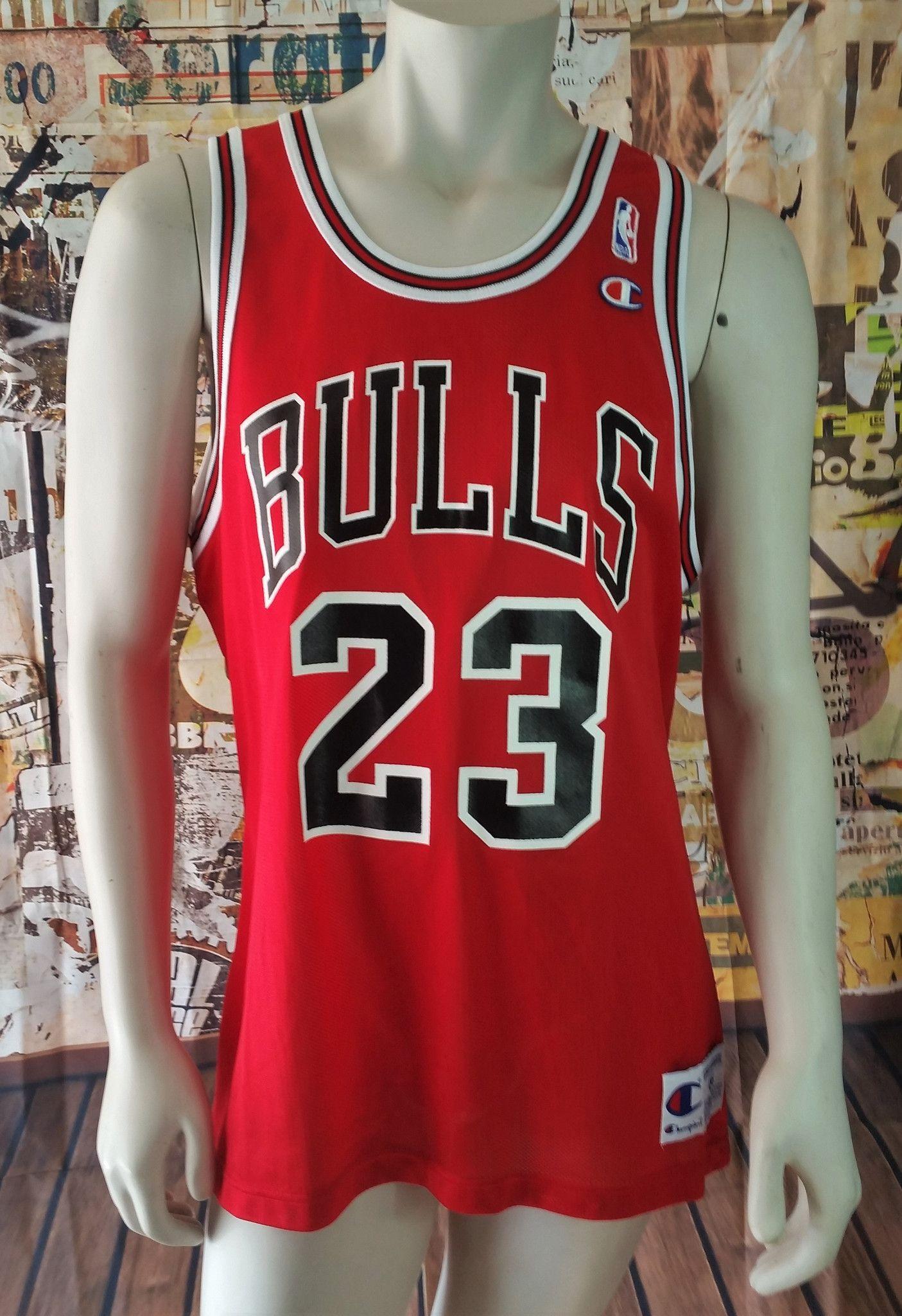 902477e6a50 Michael Jordan Vintage Champion Jersey Chicago Bulls NBA Basketball Rare  Mens 44