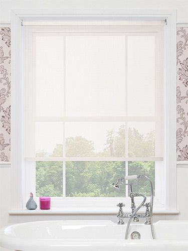 The vista white magic screen roller blind will complement - Best blinds for bathroom privacy ...