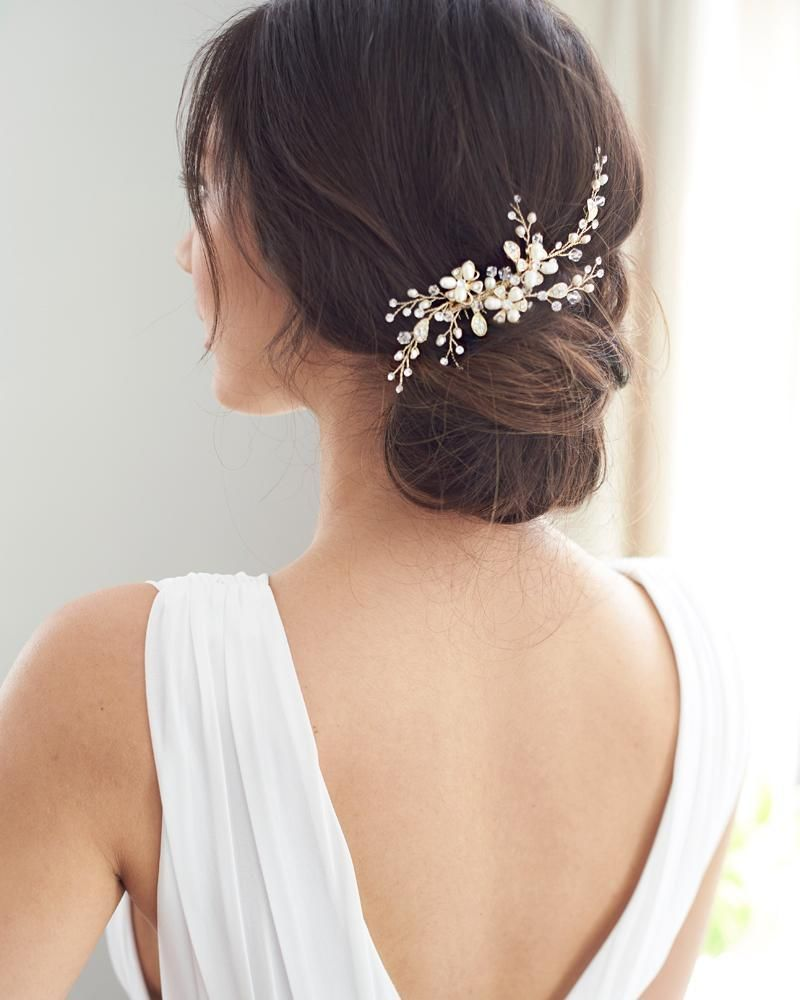 angela pearl comb in 2019 | bridal hair accessories