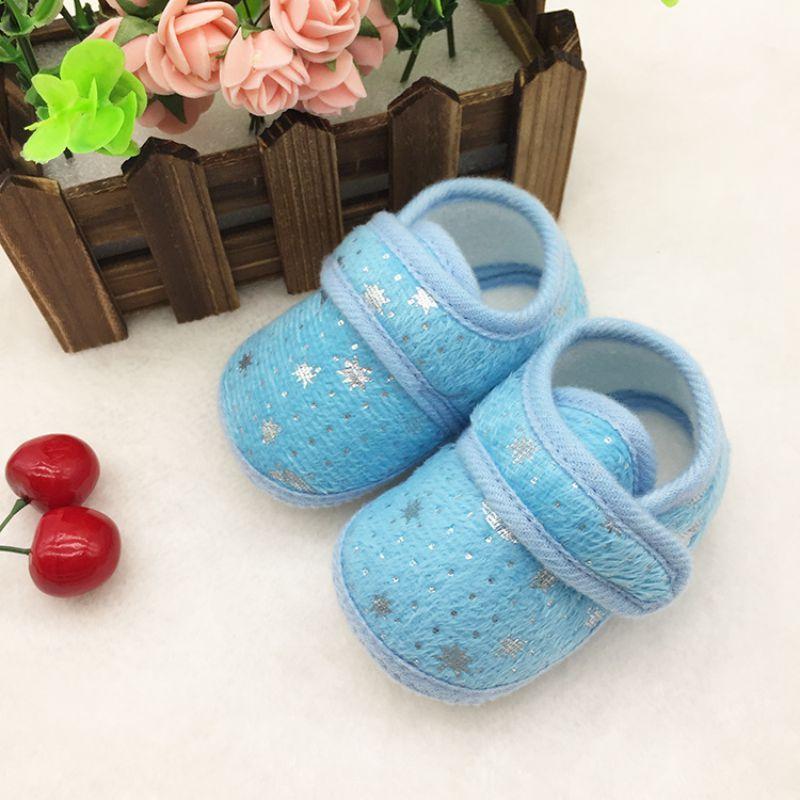 c9ef8fc5f Click to Buy    Cute Star Print Infants Shoes Baby Boys Girls Hook   Loop  Anti-Slip Cotton Prewalker  Affiliate