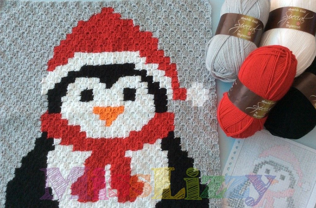 Christmas Crochet Blanket Block #1 penquin | Knit/Crochet-Assorted ...