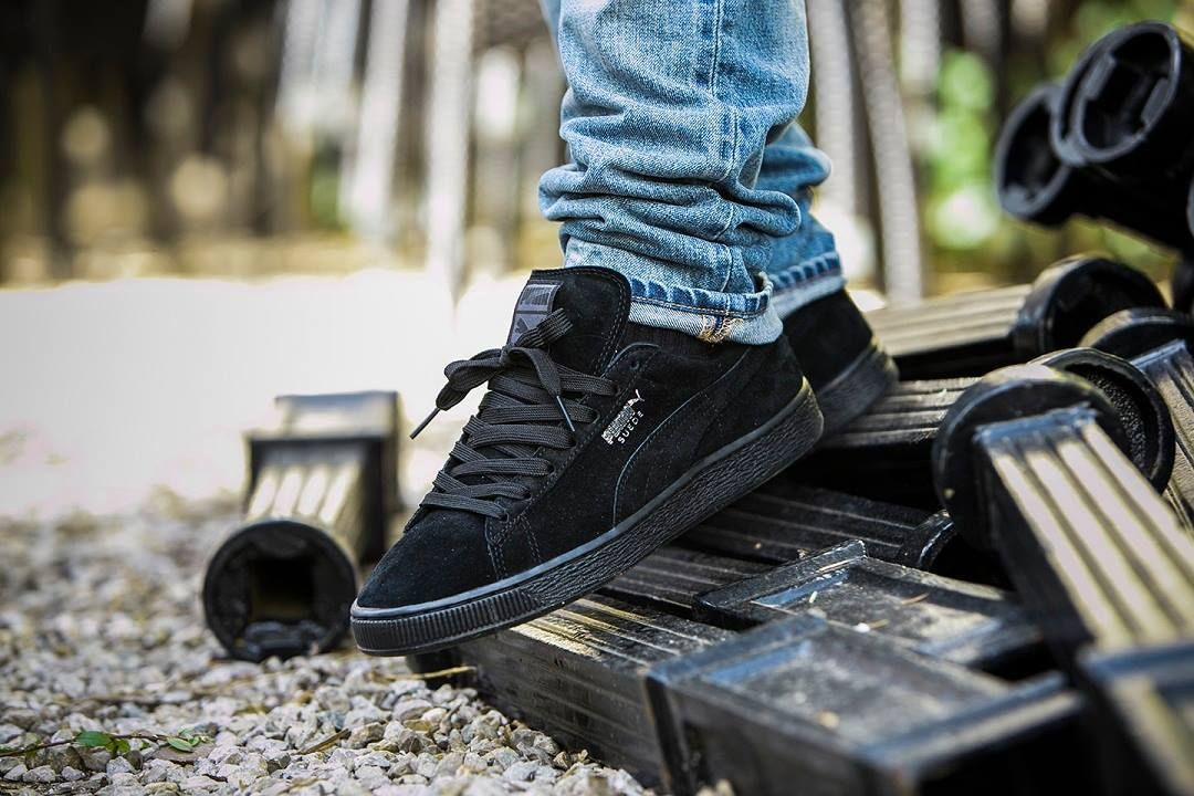 Puma Suede Classic - Black Black (by... – Sweetsoles – Sneakers ... aacb2dd4c944b