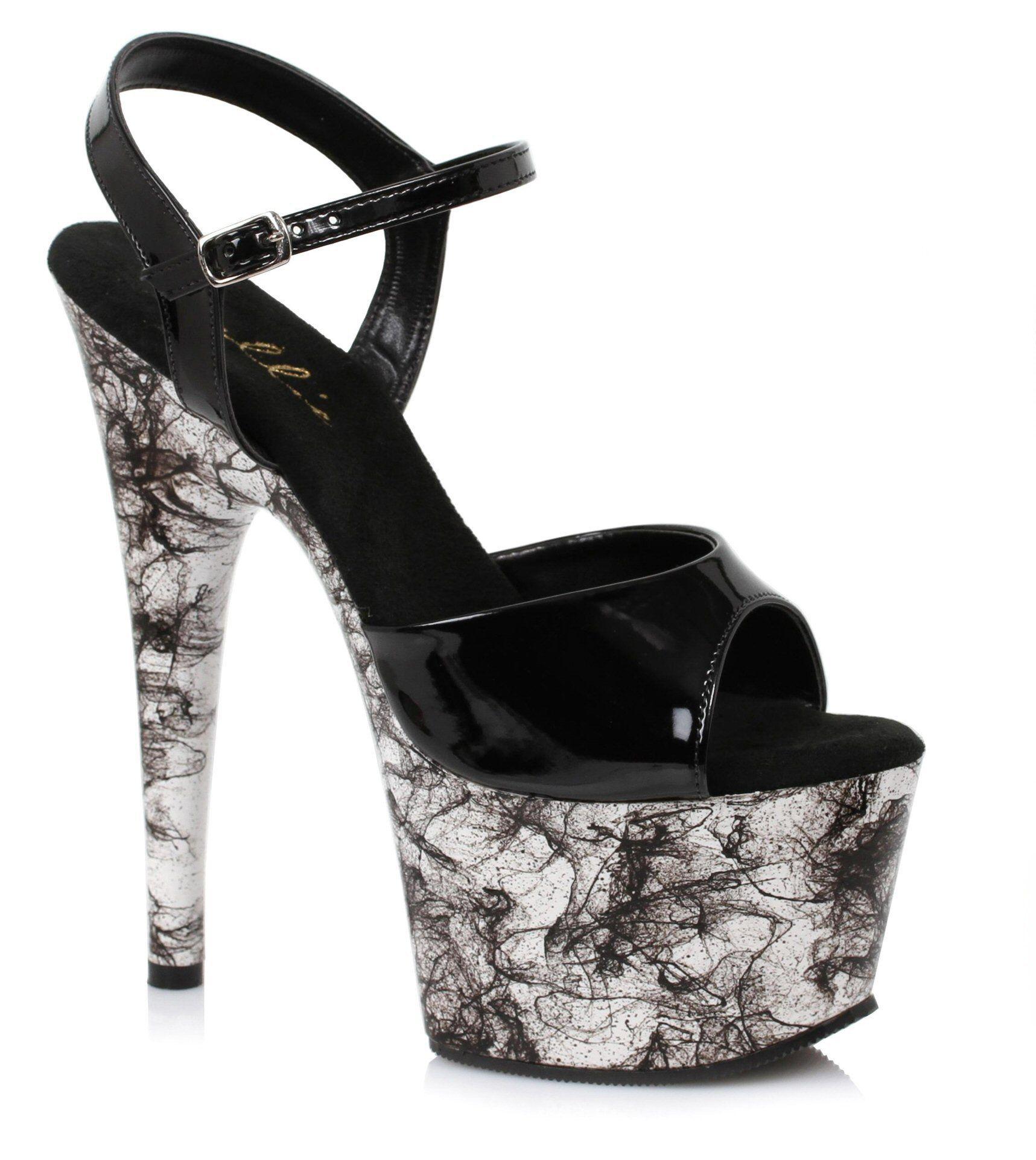 Black sandals 2 inch heel - High Heels Ellie Strappy Platform Sandals 7 Inch