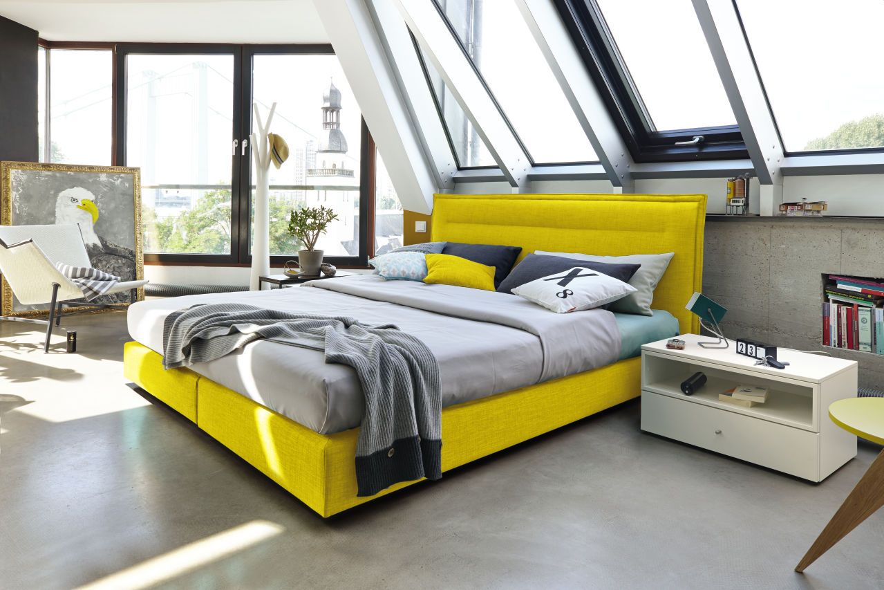Hülsta Betten Lattenroste Yellow Boxspring Bed Bedroom Now Byhuelsta Hulsta Now