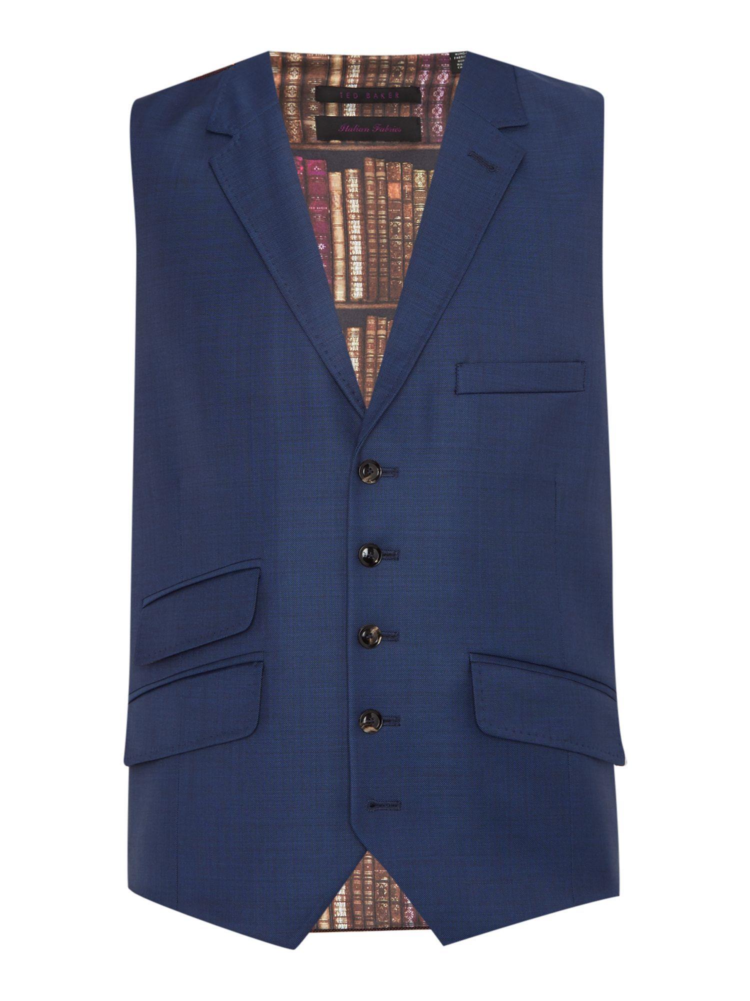 6e84a77ea51e58 Buy  Men s Ted Baker Marine Sharkskin Waistcoat