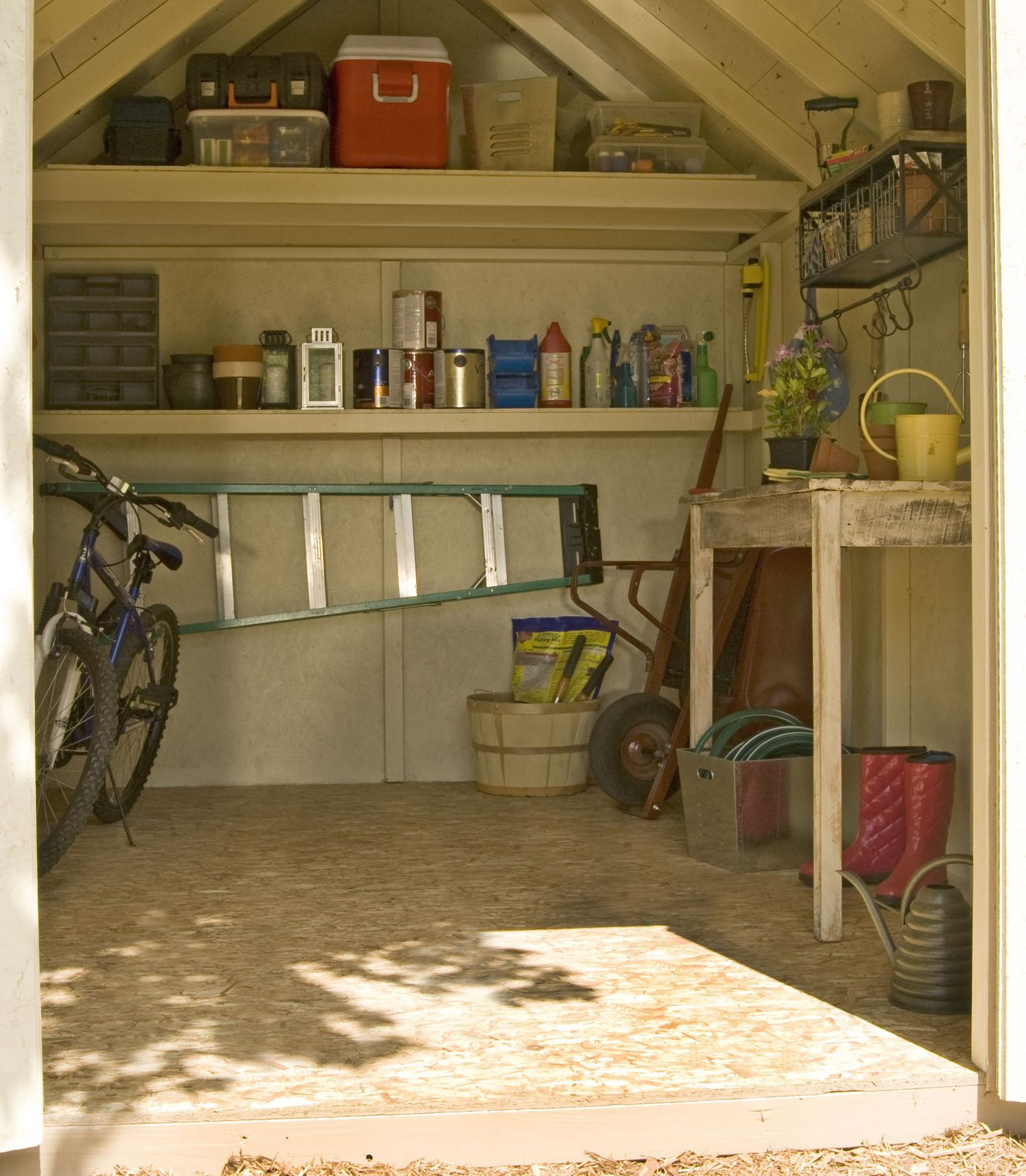 Maximize Your Storage Potential Inside Your Shed By Adding Shelves,  Workbenches And Tables. Nice