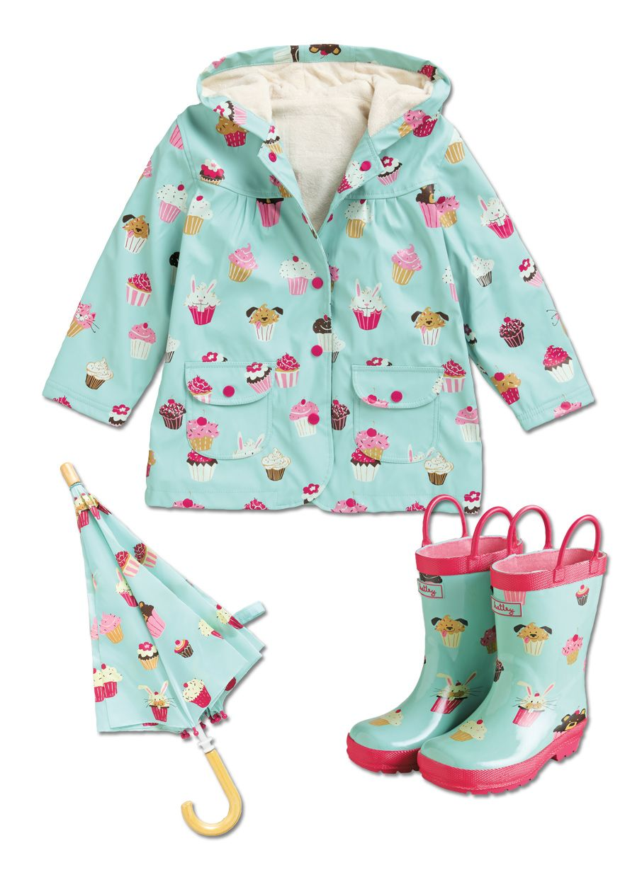 From Cwdkids Cupcakes Rain Coat Boots Umbrella Girl Outfits Baby Girl Fashion Baby Girl Clothes