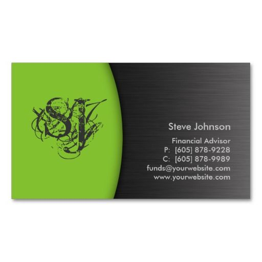 Professional metal business card financial green filiama professional metal business card financial green reheart Choice Image