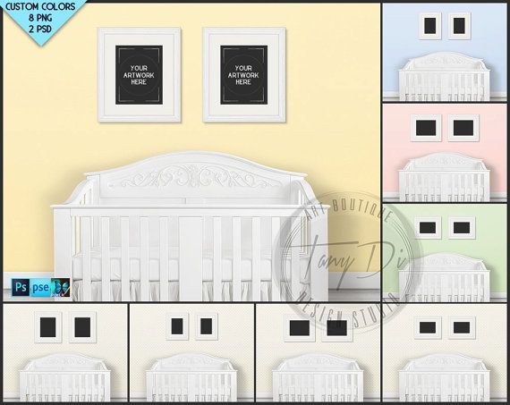 Nursery Styled Interior 28 Set of 2 White by TanyDiDesignStudio