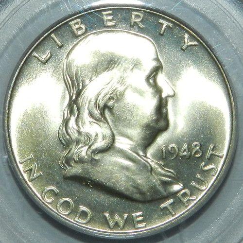1948 P Franklin Half Dollar. PCGS MS64FBL $70.00 Free Shipping
