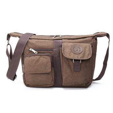 Men Canvas Travel Hiking Crossbody Bag Casual Chest Bag is worth buying - NewChic Mobile.
