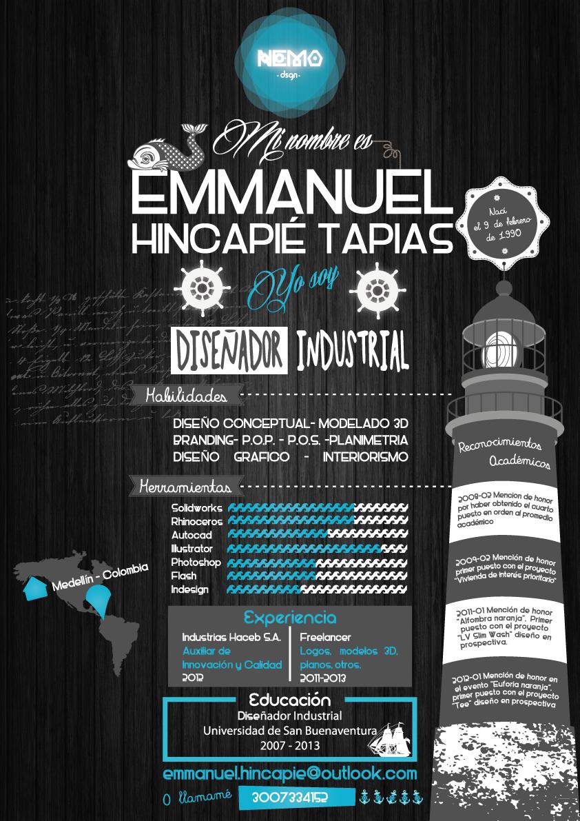Hoja de vida by Emmanuel Hincapié Tapias Infografía | INFOGRAFIAS ...