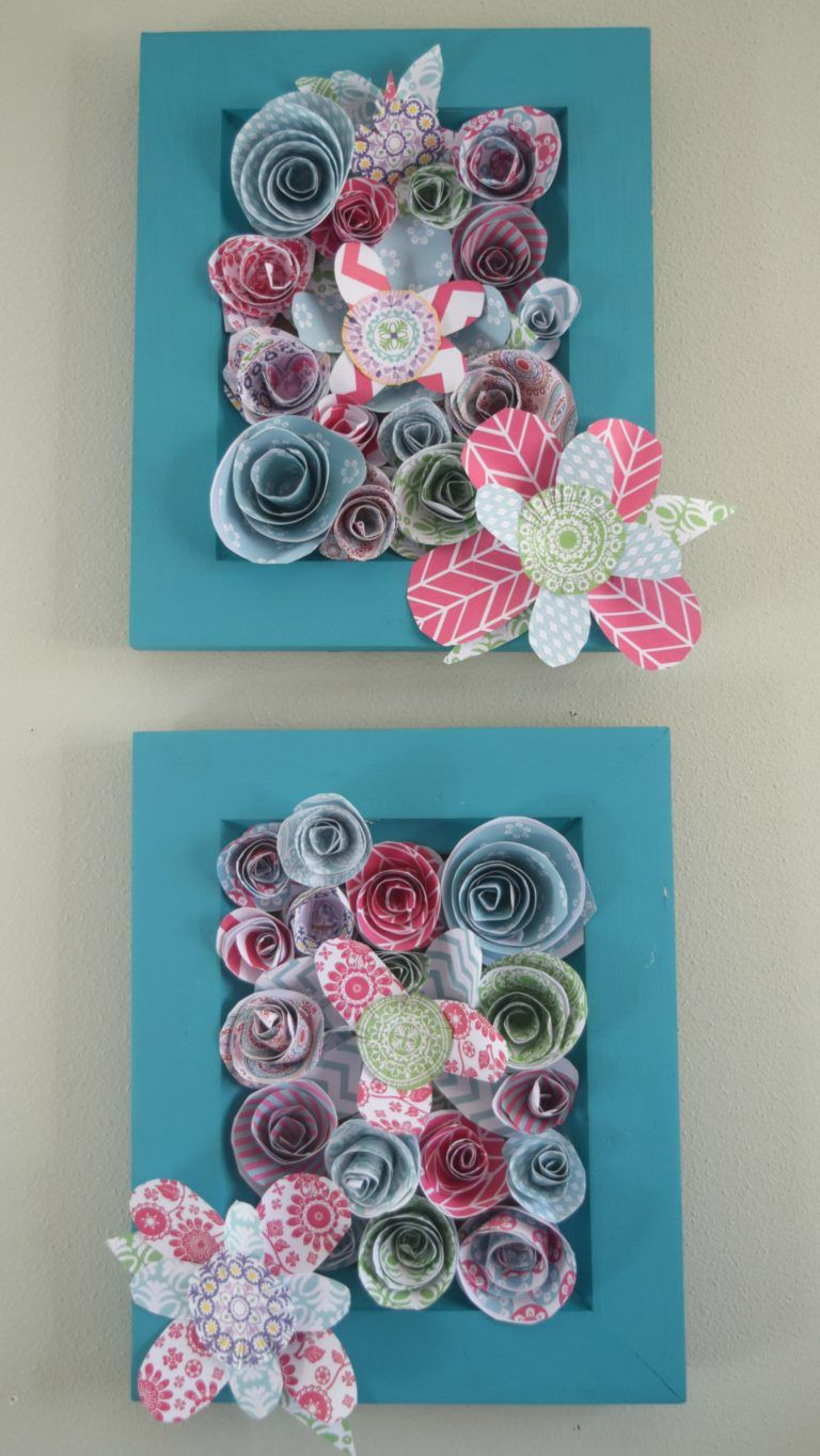 How to make wall art using paper flowers | Bedroom simple, Simple ...