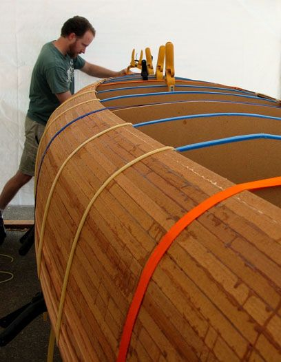 Der Aufbau eines Cedar-Streifen Kanu