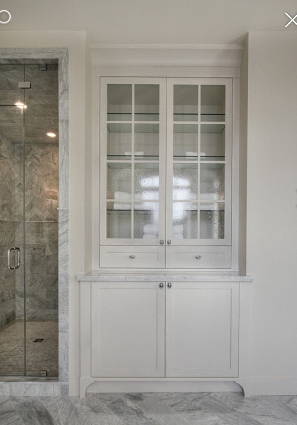 Bathroom Built In, Foot Detail. Want To Do This In Master Bath Rather Than Linen  Closet