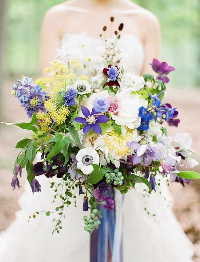 Love this dreamy whimsical purple bouquet