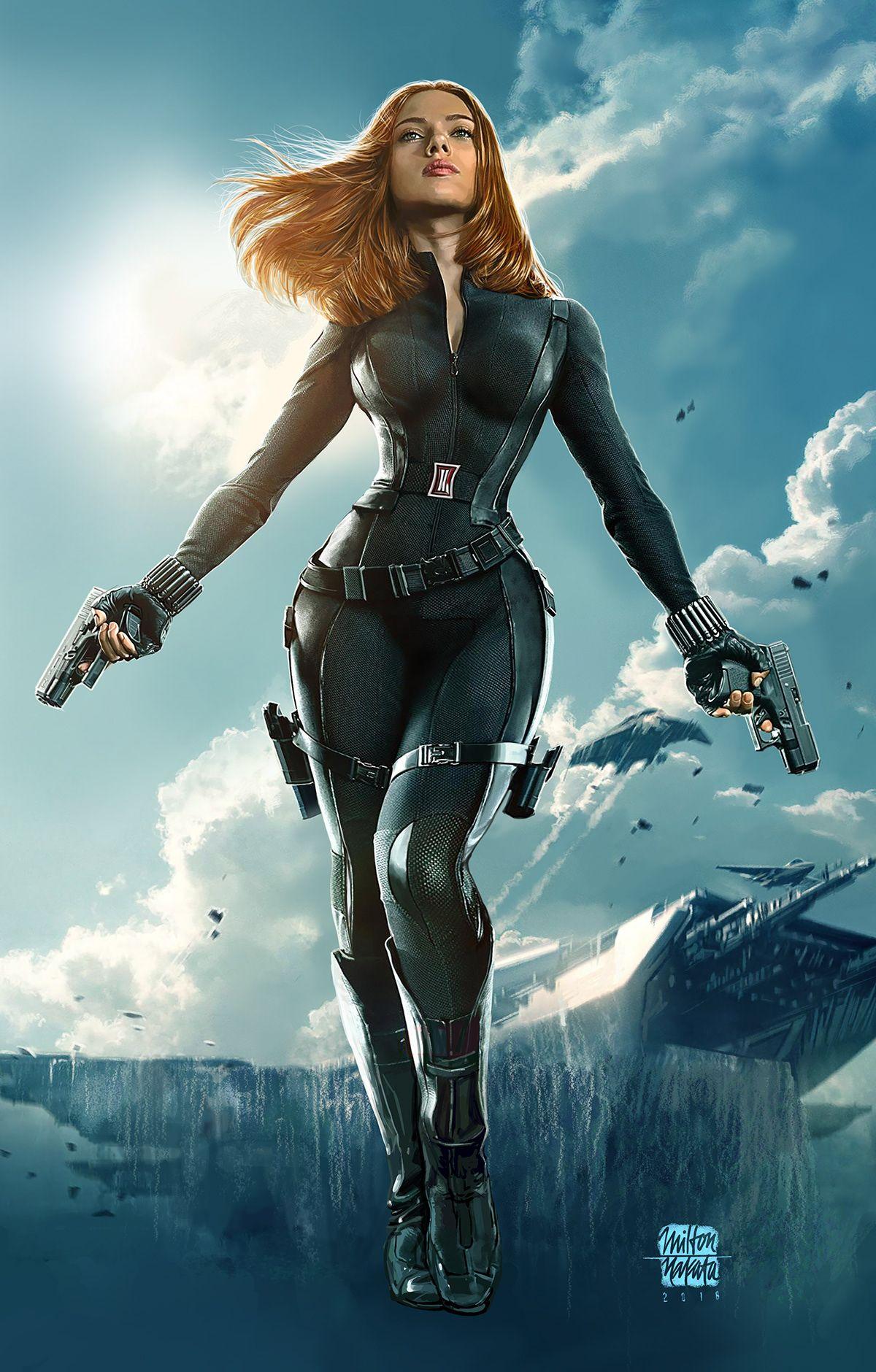 Black Widow Fanart on Behance Black widow marvel