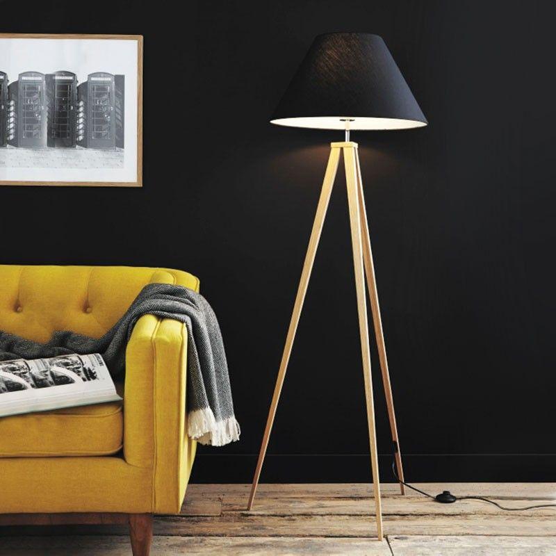 Lucide Jolli Floor Lamp Floor lamp, Lamp, Wooden tripod