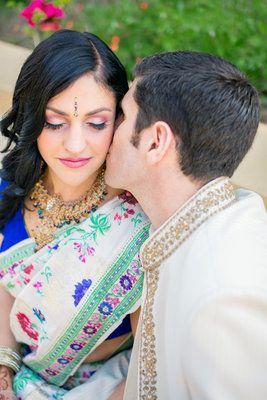 Colorful Indian Jewish Fusion Wedding