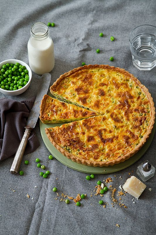 Pea quiche - an original alternative to eat our greens!
