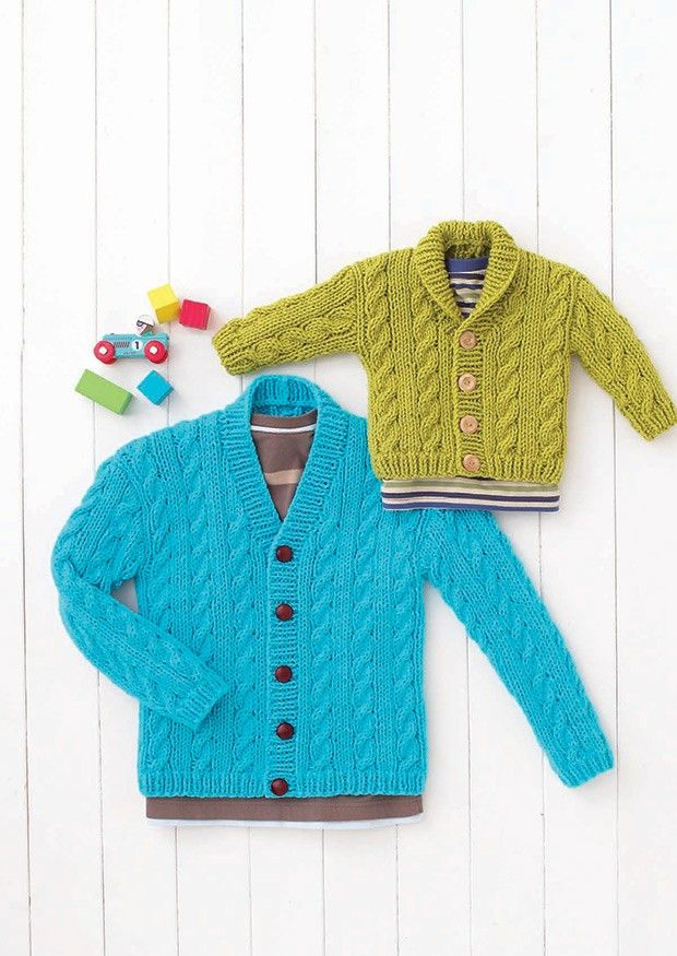 Babies & Boys Shawl Collared and V Neck Cardigans in Hayfield Baby ...