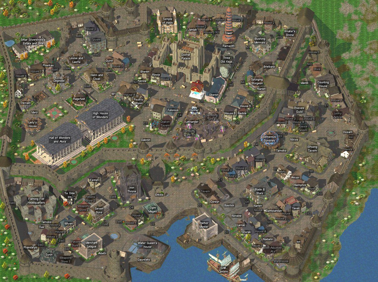 Map Of Germany With Cities%0A Baldur u    s Gate City Plan